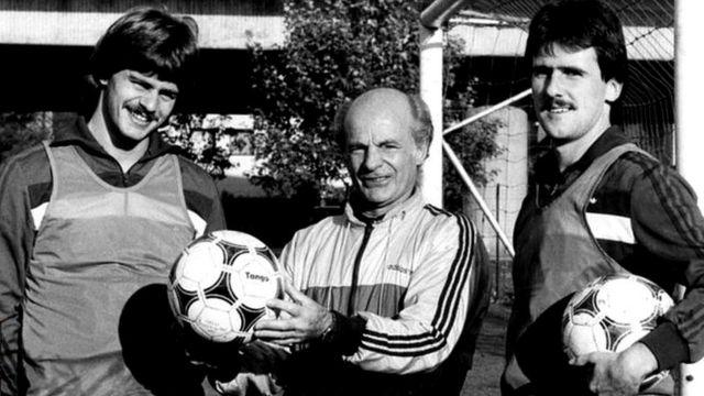 Дирк Шлегель и Фалько Гётц с тренером