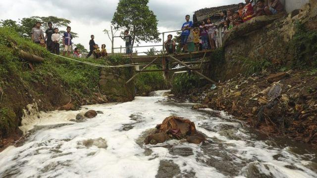 Sungai Citarum di Jawa Barat