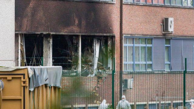 Окна лаборатории, где был пожар