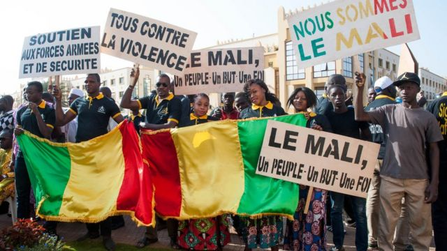 Manifestation pour la paix à Gao au Mali