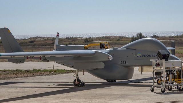 беспилотник Airbus выполняет полет для Frontex