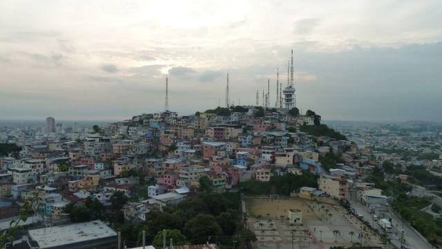 Favela em país da américa latina