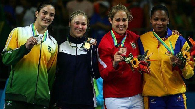 Mayra e Rhonda duelaram na final do Pan de 2007, no Rio. A americana levou a melhor