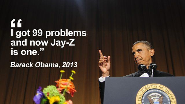 """Getty Images - Obama: """"I got 99 problems and now Jay-Z is one"""""""