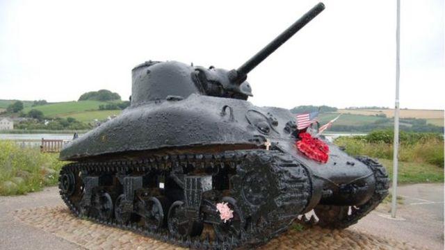 Мемориальный танк в Слэптоне