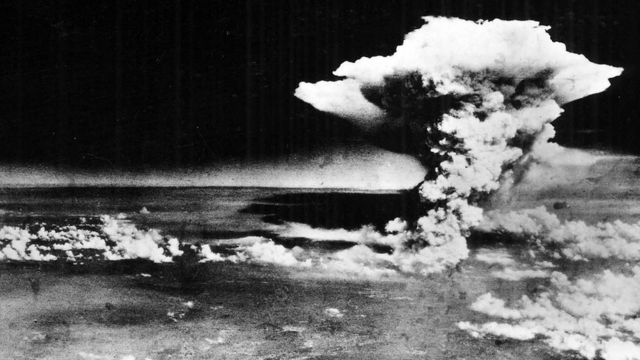 Explosión atómica en Hiroshima.