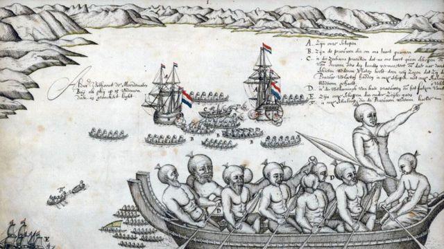 Los barcos de Tasman partieron de Nueva Zelanda después de un sangriento encuentro con el pueblo maorí, pero él creyó haber encontrado el legendario continente del sur.
