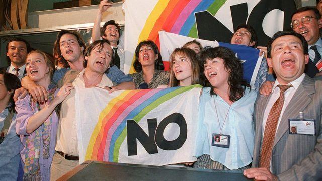 """Campaña a favor del """"no"""" en Chile."""