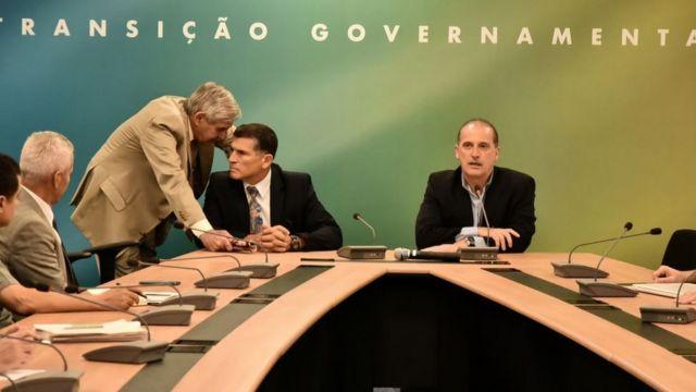 Augusto Heleno, Santos Cruz e Onyx Lorezoni