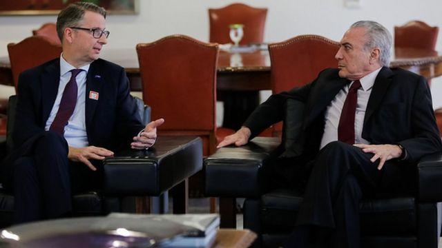 Presidente Michel Temer e Ralph Schweens, Presidente da BASF para o Brasil e América do Sul durante audiência com Kurt Bock, Presidente Mundial da BASF. (Brasília - DF 30/11/2016)