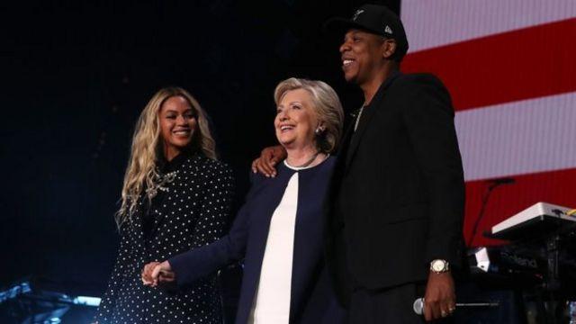Beyonce, Hillary Clinton na Jay Z