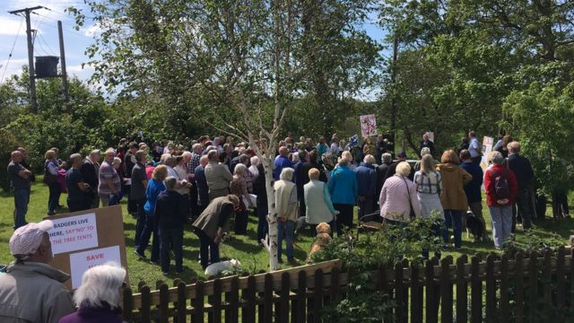 Protest over Llantwit Major tree-tent campsite