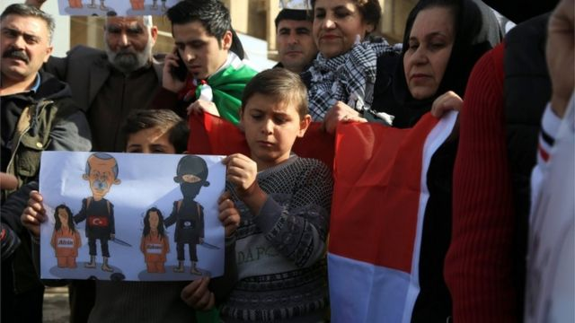 مظاهرات واحتجاجات الأكراد