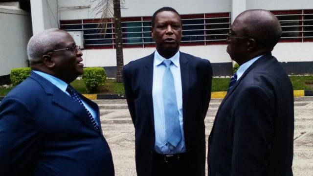 Ndayizeye Domitien, Pierre Buyoya and Sylvestre Ntibantunganya