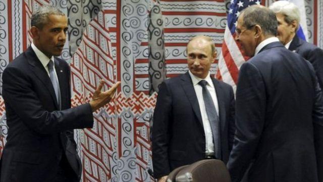 Barack Obama, Vladimir Putin, Lavrov