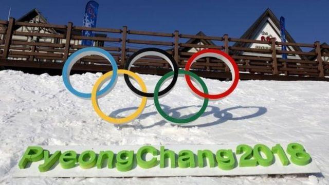 Un letrero de PyeongChang 2018