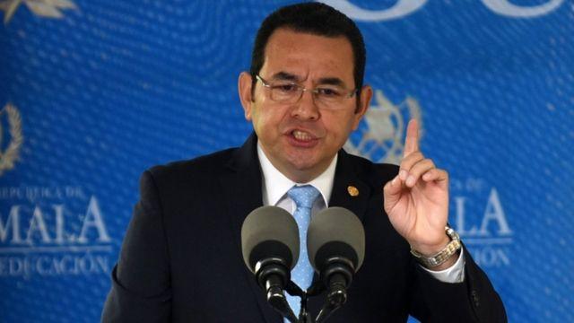 Presidente de Guatemala, Jimmy Morales.
