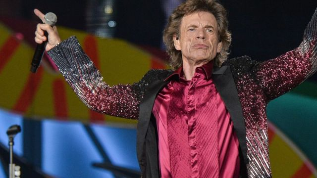 Mick Jagger performs during a concert at Ciudad Deportiva in Havana, Cuba, on 25 March 2016.