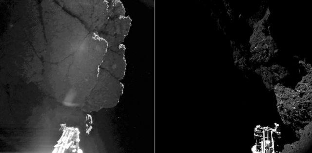 Imágenes de las cámaras del Philae