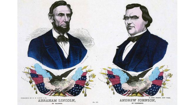 Постер у кампањи републиканаца 1864.