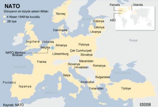 NATO üye ülkeler