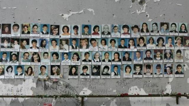 बेसलान में मारे गए बच्चे