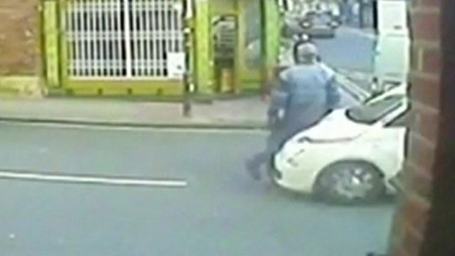A still from the CCTV footage