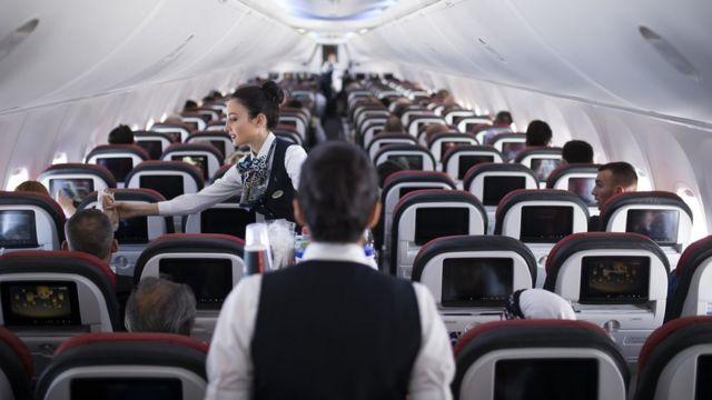 uçak kabin