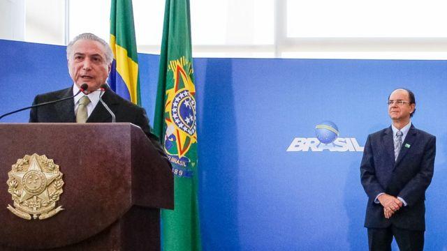Temer e o presidente do Ipea, Ernesto Lozardo, em sua nomeação, em junho