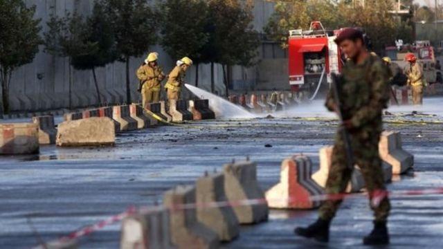 пожарные моют мостовую, Кабул