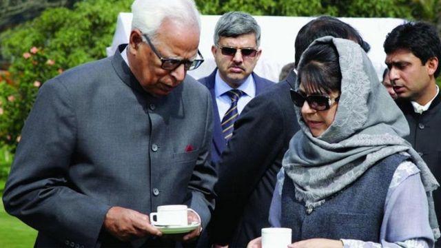 जम्मू-कश्मीर में राज्यपाल शासन, महबूबा मुफ्ती, एन एन वोहरा