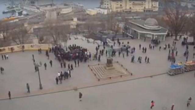 Fake election rally in Odessa, Ukraine, February 2019