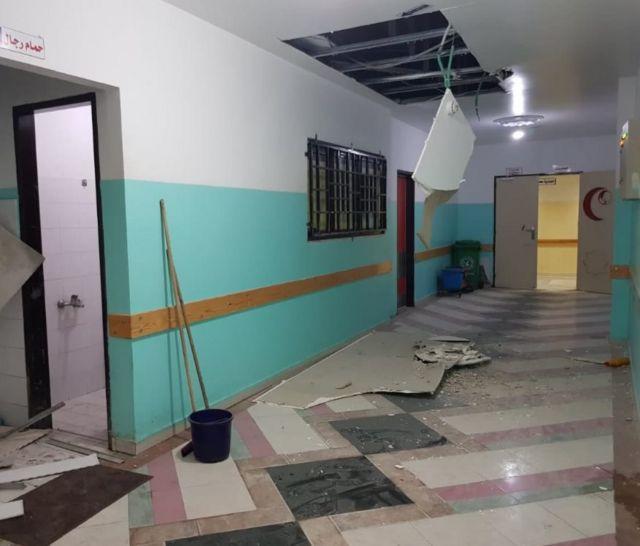 Rumah sakit Indonesia di gaza rusak