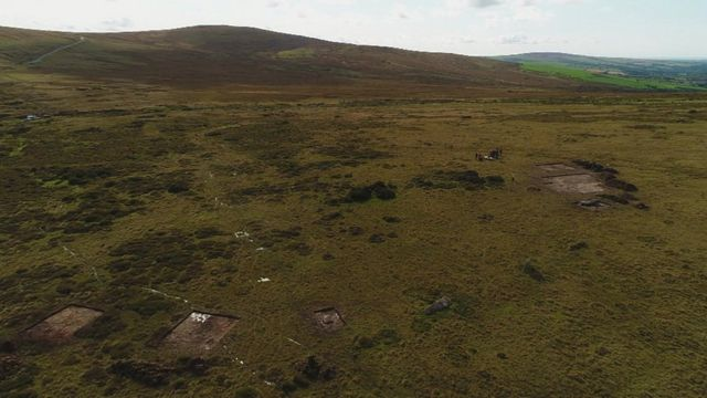 The site of the archaeological dig in the Preseli Hills, Pembrokeshire