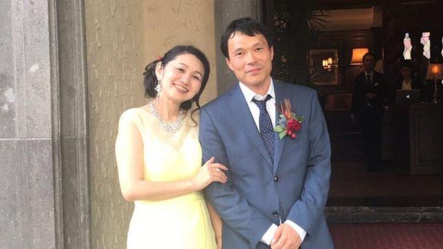 Cheiko Mitsui e o marido