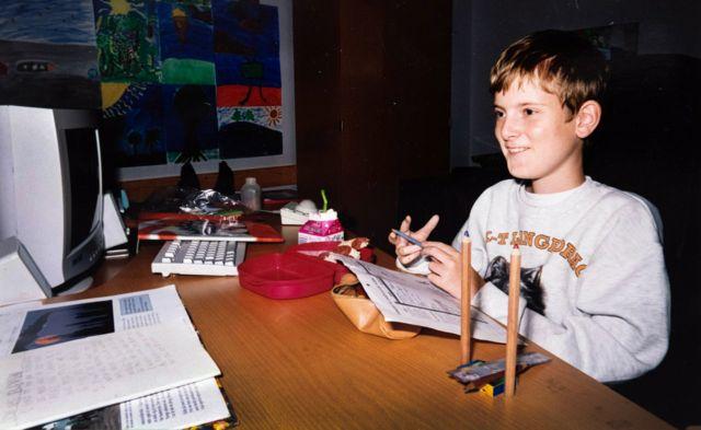 Mats Steen de niño
