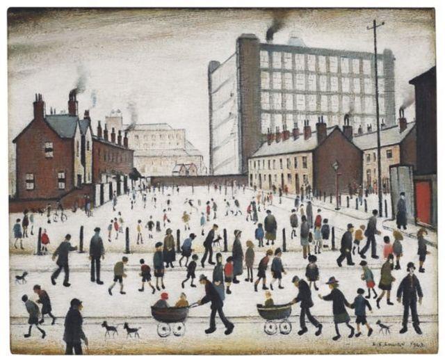 Lukisan yang menggambarkan para pekerja sedang menikmati hari liburnya
