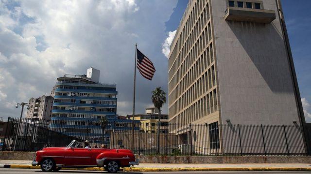 キューバ・ハバナの米国大使館
