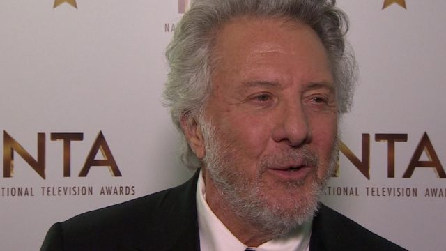 Actor Dustin Hoffman at the National Television Awards in London on 20th January 2016.