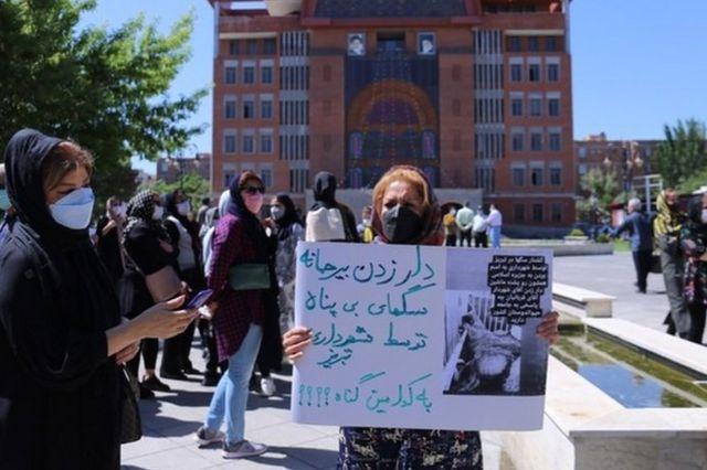تجمع اعتراضی مقابل شهرداری تبریز