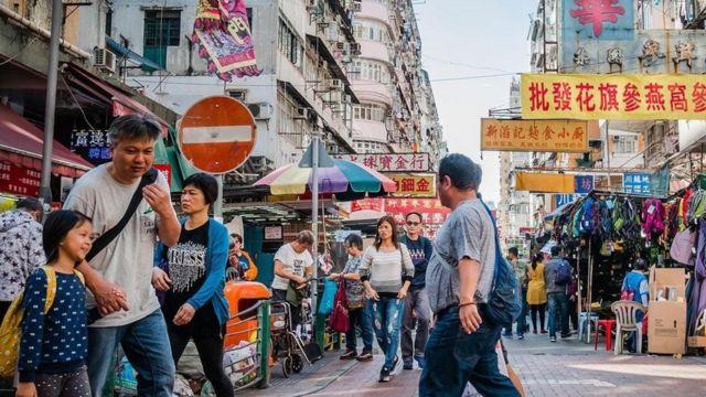 أحد شوارع هونغ كونغ