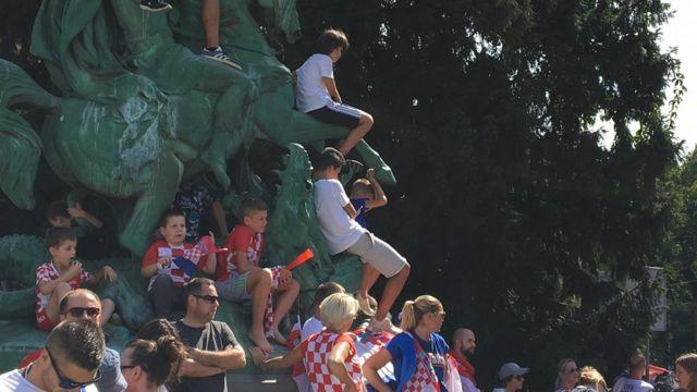 Hrvatski navijači čekaju reprezentaciju