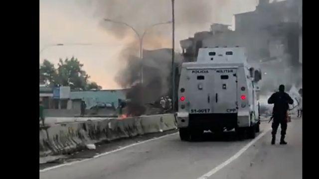 Protesto contra morte de Kathlen na autoestrada Grajaú-Jacarepaguá