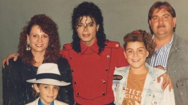 Robson ailesi Michael Jackson ile birlikte