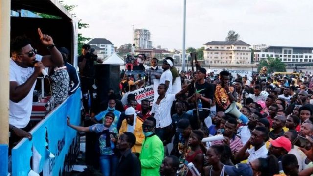 CNN Nigeria protest: Lekki toll gate Lagos Nigeria