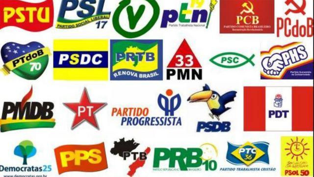 Logomarcas dos principais partidos do Brasil
