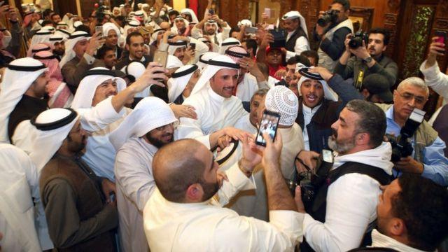 الغانم فاز برئاسة البرلمان بأغلبية كاسحة