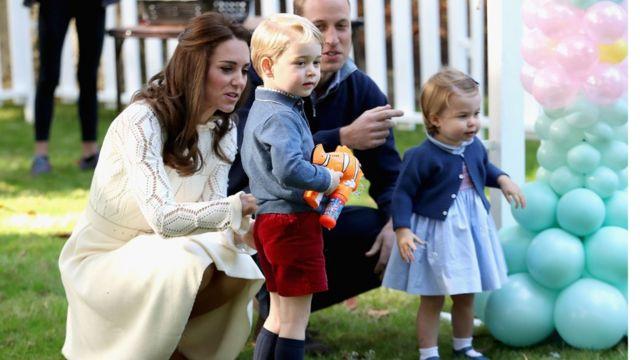 Кейт, принц Уильям, принц Джордж и принцесса Шарлотта