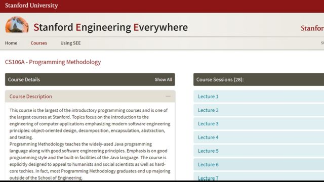 Reprodução do site de Stanford