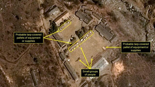 法國國家空間研究中心(CNES)發放的朝鮮豐溪里核試驗場衛星照片(13/4/2017)